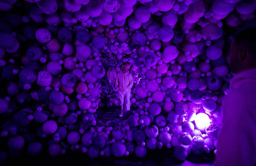 Moco Museum Daniel Arsham Amethyst Ball Cavern1
