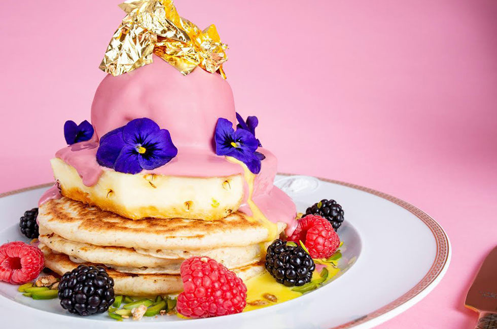 American Pancakes met bladgoud eet je bij Moak