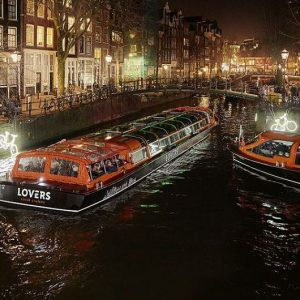 Water Colors Cruise during Amsterdam Light Festival